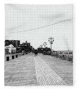 Coney Island Boardwalk Fleece Blanket