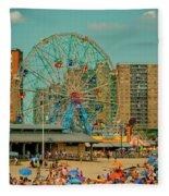 Coney Island Fleece Blanket