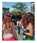 Coney Island Girls Fleece Blanket