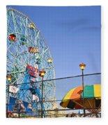 Coney Island Memories 6 Fleece Blanket