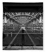 Coney Island Stillwell Ave Subway Station Fleece Blanket