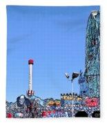 Coney Island's Astroland  Fleece Blanket