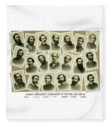 Confederate Commanders Of The Civil War Fleece Blanket