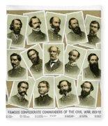 Confederate Commanders Of The Civil War Fleece Blanket