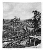Confederate Fort Fleece Blanket