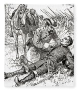 Confederate General John Brown Gordon Assists Wounded Union General Francis Channing Barlow Fleece Blanket