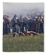 Confederate Infantry Skirmish  Fleece Blanket