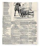 Confederate Newspaper Fleece Blanket