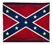 Confederate Rebel Battle Flag Fleece Blanket
