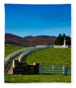 Confederate Soldier Memorial Fleece Blanket