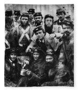 Confederate Soldiers, 1861 - To License For Professional Use Visit Granger.com Fleece Blanket