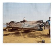 Confederate Submarine, Hunley Fleece Blanket