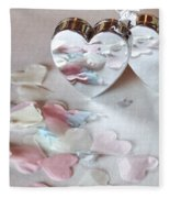 Confetti Hearts Fleece Blanket