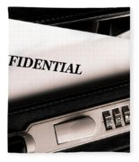 Confidential Documents Fleece Blanket