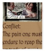 Conflict Fleece Blanket