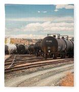 Congested Tracks Fleece Blanket