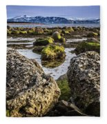 Conglomerate Boulders, Green Point, Nl Fleece Blanket