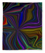 Conglomerate Of The Color Wheel Fleece Blanket