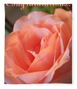 Congratulations Card For Girl Or Woman Fleece Blanket