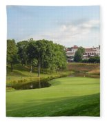 Congressional Blue Course - The Finish - Par 4 18th Fleece Blanket
