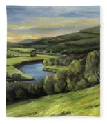 Connecticut River Valley View Two Fleece Blanket