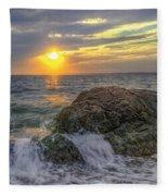 Connecticut Sunset Fleece Blanket