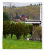 Connecticut Windmill. Fleece Blanket