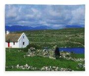 Connemara, Co Galway, Ireland Cottages Fleece Blanket