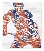 Connor Mcdavid Edmonton Oilers Pixel Art 3 Fleece Blanket