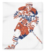 Connor Mcdavid Edmonton Oilers Pixel Art 6 Fleece Blanket