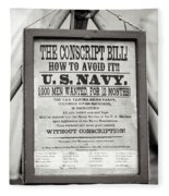 Conscript Bill  Fleece Blanket