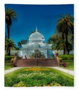 Conservatory Of Flowers - San Francisco Fleece Blanket