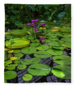 Conservatory Waterlilies Fleece Blanket