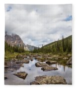Consolation Lake Banff Fleece Blanket