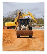 Construction Digger Fleece Blanket