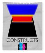 Constuctivist Poster Fleece Blanket