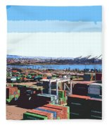 Container Terminal Fleece Blanket