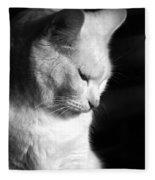 Contempation  Fleece Blanket