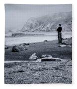 Contemplation - Beach - California Fleece Blanket