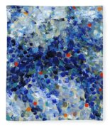 Contemporary Art Forty-nine Fleece Blanket