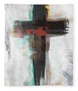 Contemporary Cross 1- Art By Linda Woods Fleece Blanket