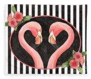 Contemporary Flamingos 1 Fleece Blanket