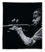 Contemporary Jazz Trumpeter Fleece Blanket