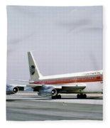 Continental Airlines 720-024b N17207 Los Angeles July 22 1972 Fleece Blanket