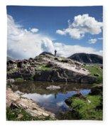 Continental Divide Above Twin Lakes 2 - Weminuche Wilderness Fleece Blanket
