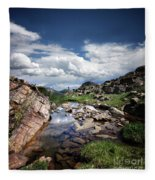 Continental Divide Above Twin Lakes 3 - Weminuche Wilderness Fleece Blanket