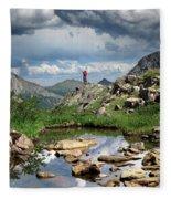 Continental Divide Above Twin Lakes 4 - Weminuche Wilderness Fleece Blanket