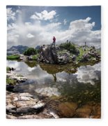 Continental Divide Above Twin Lakes 5 - Weminuche Wilderness Fleece Blanket