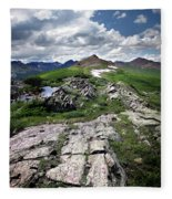 Continental Divide Above Twin Lakes 6 - Weminuche Wilderness Fleece Blanket