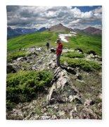 Continental Divide Above Twin Lakes 7 - Weminuche Wilderness Fleece Blanket